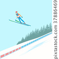 Ski jumping competitions. 37886469