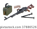 Military weapon disassembled view 37886526