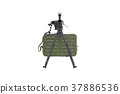 Gun automatic bipod, front view 37886536