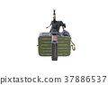 Military weapon, back view 37886537