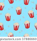 Popcorn seamless pattern. 37886660