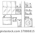 cupboard, laundry, interior 37886815
