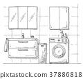 cupboard, laundry, interior 37886818