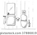 freehand, restroom, sketch 37886819