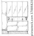 interior, sketch, drawn 37886820