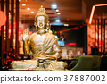 Statue Of Buddha Sitting In Lotus Position With 37887002