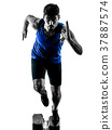 runner sprinter running sprinting athletics man 37887574