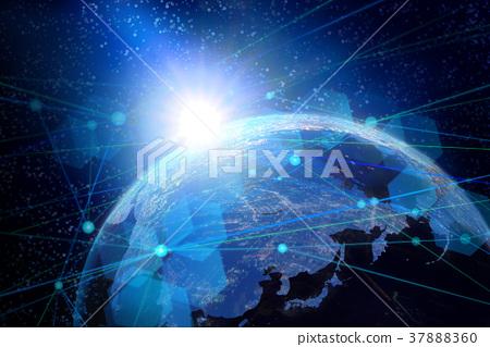地球和網絡圖像背景 37888360