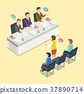 group interview concept 37890714