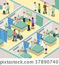 hospital ward interior 37890740