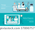 medical concept banners set 37890757