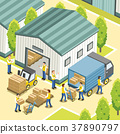 logistic working process 37890797