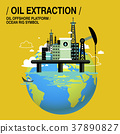 oil extraction upon sea 37890827