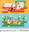 happy family time illustration 37890866