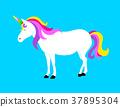 Cute magic Unicorn. Cartoon fantasy animal.  37895304