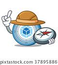 Explorer webpack coin mascot cartoon 37895886
