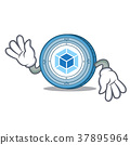 Crazy webpack coin mascot cartoon 37895964