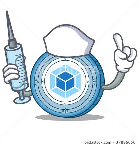 Nurse webpack coin character cartoon 37896056