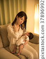 夜晚 夜晚時光 父母和小孩 37896992
