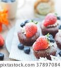 蛋糕 巧克力蛋糕 紙杯蛋糕 37897084