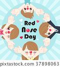 people with red nose day 37898063