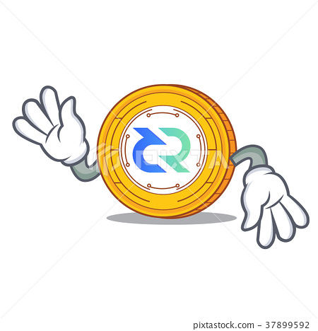 Crazy Decred coin mascot cartoon 37899592