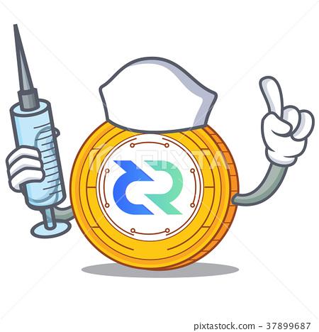 Nurse Decred coin character cartoon 37899687