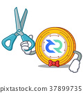 Barber Decred coin character cartoon 37899735