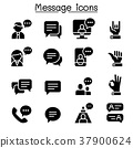 Message, Chat, discussion icon set 37900624