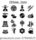 Chinese icon set 37900625