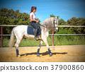 training of riding girl 37900860