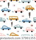 pattern, car, seamless 37901355