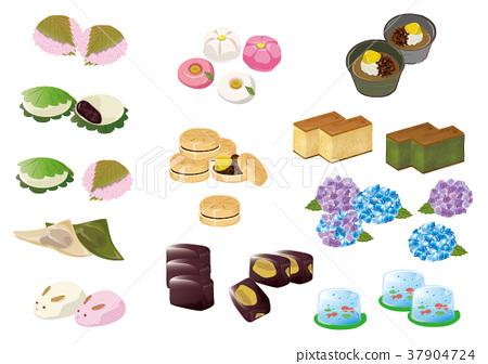 日本糖果材料各种各样 37904724