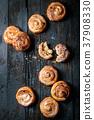 Puff pastry cinnamon rolls 37908330