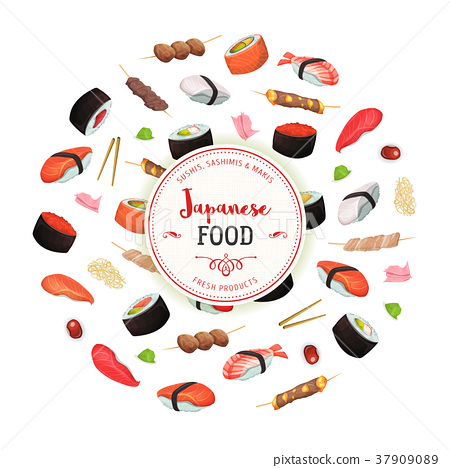 Healthy Japanese Food Background 37909089