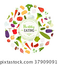 Healthy Eating And Vegetables Background 37909091