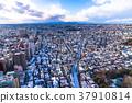 東 Tokyo 京都 Landscape of a residential area with snow 37910814