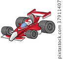 funny cartoon formula race car 37911407