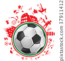soccer ball with italian symbol 37911412