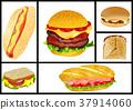 sandwiches and hamburgers set 37914060