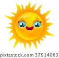 sun, vector, emoji 37914063