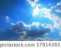 藍天 雲彩 雲 37914365