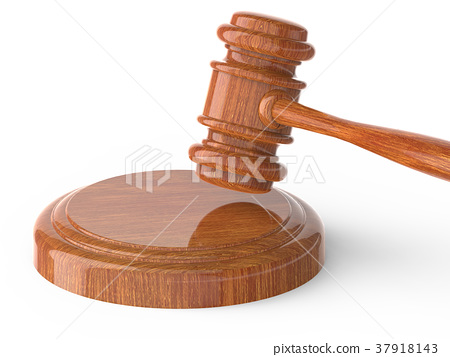 wooden gavel close up 37918143