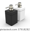 black white cosmetic bottle 37918282