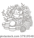 adorable piggy coloring page 37919548