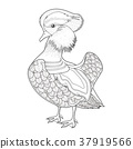 lovely mandarin duck coloring page 37919566