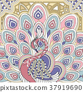 elegant peacock 37919690