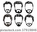 hair and beards set 37919846