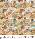 Taiwan delicious snacks seamless pattern 37919895