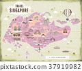 Singapore travel map 37919982
